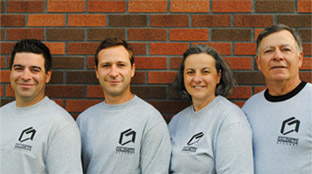 The Guillemette masonry team Kevin, Jeffrey, Michelle and Roger can help you tackle any masonry project.